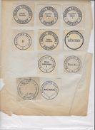 Etiquettes De Fermeture De Lettres - Autres