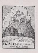EX LIBRIS BOOKPLATE DI A.K. ROSSITER - Ex Libris