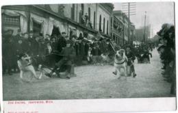 DOG RACING Ishpeming Michigan C. 1910 - Etats-Unis