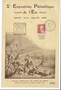 Nancy Exposition Philatélique Avec Dagin Hommage à J.Callot 12-14 Juillet 1936 - Commemorative Labels
