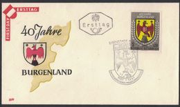 XB168    Austria FDC/Cover - Flags, Arms & Seals - Coat Of Arms - Burgenland 1961 - FDC
