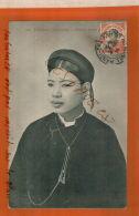 CPA Indochine TONKIN HAIPHONG    Femme Annamite    Timbre Indo-chine 10   1914  NOV  2017 443 - Viêt-Nam