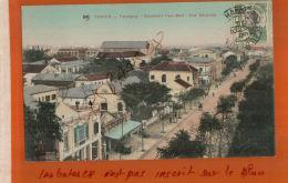 CPA Indochine TONKIN HAIPHONG   Boulevard Paul Bert Vue Générale  Timbre  NOV  2017 447 - Viêt-Nam