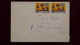 Spain - 1996 - Mi:ES 3258, Sn:ES 2841, Yt:ES 2992 (2x) On Envelope - Look Scan - 1991-00 Briefe U. Dokumente