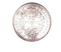 FRANCE . 50 FRANCS HERCULE . 1976 . ARGENT - Réf. N°169B - - M. 50 Francs