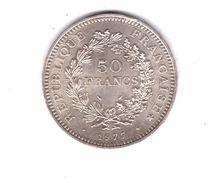 FRANCE . 50 FRANCS HERCULE . 1977 . ARGENT - Réf. N°171B - - M. 50 Francs