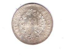 FRANCE . 50 FRANCS HERCULE . 1976 . ARGENT - Réf. N°172B - - M. 50 Francs