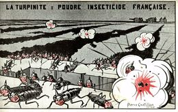 Illustrateur Pierre Chatillon, Guerre 14-18,  Carte Satirique   LA TURPINITE POUDRE INSECTICIDE FRANÇAISE - Satira