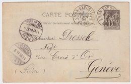 """1894, """" LYON - EXPOSITION """" , Tres Claire ! #8850 - Marcophilie (Lettres)"""