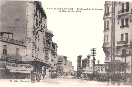 CASABLANCA  Boulevard De La Liberté Et Rue De Marseille Neuve TTB - Casablanca