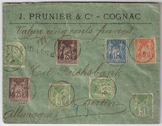1900, Sage, 4 Couleurs ,valeur Pour Etranger  , #8851 - Marcophilie (Lettres)