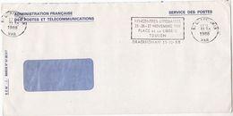 1988 COVER FRANCE SLOGAN Pmk LITERARY MEETING PLACE DE LA LIBERTE TOULON Literature Service De Poste Postal Stationery - France