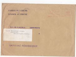 1964 COUNCIL OF EUROPE COVER METER Stamps STRASBOURG France To GB - Covers & Documents