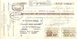 TRAITE 1931 SA. DES ALCOOLS LESAFFRE FRERES RUE GAMBETTA LOOS NORD - Alimentare