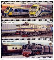 Malaysia 2010 S#1298-1300 Malayan Railway MNH Train - Malaysia (1964-...)