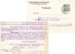 Dresden 1924, AG Für Glasindustrie (perfin) - Briefe U. Dokumente