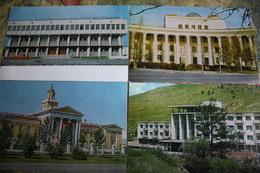 Mongolia. Ulan Bator. 1970s -  4 PCs Lot  - Old Postcard - Mongolie