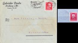 Freiburg 1927/28, Friedrich Der Große, Sonderstempel/perfin - Briefe U. Dokumente