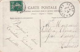 1912 Vassy Calvados FRANCE Stamps COVER (postcard Young Lady With Flowers) - France