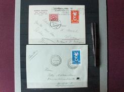 EUROPA CEPT 1958 ITALIA ITALY ITALIE NON DENTELLATI USATI SU BUSTE RARISSIMI!!! - Europa-CEPT