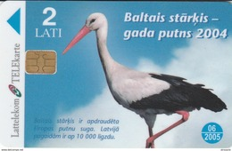 Latvia - Stork - The Bird Of 2004 - Latvia