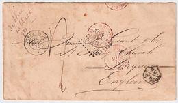 "Brasilien , 1875, "" FR. 2 F. 96c ""  - Bresil Pour Angleterre , #8858 - Briefe U. Dokumente"