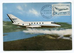 CPm Avion : Mystère 20  Carte 1er Jour   A  VOIR  !!!!!!! - 1946-....: Moderne