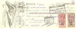 TRAITE 1926 L. MARIE BAYEUX CALVADOS - BEURRE D'ISIGNY SABLÉ BISCUIT - USINE - Levensmiddelen