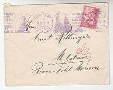 1935 CZECHOSLOVAKIA COVER SLOGAN Illus CHURCH PRAG CATHOLIC CONGRESS  CHURCH Religion  Arras WWI Anniv Stamps - Czechoslovakia