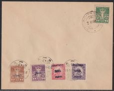 Zagreb, Croatia SHS, Postage Due Provisionals, Complete Set On Cover, March 1919 - Storia Postale