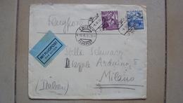 STORIA POSTALE AUSTRIA OSTERREICH COVER LETTERA POSTA AEREA FLUGPOST DA WIEN VIENNA 1936 - Altre Collezioni