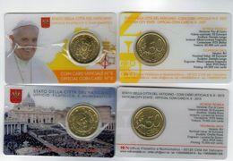 Vaticano Vatikan Vatican 2015 -2017 COINCARD N.6 -N.8 FDC - PAPA FRANCESCO In Folder Originale - Vaticano