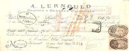 TRAITE 1926 Éts A. LERNOUD LILLE - GRAINES & DENRÉES COLONIALES - Levensmiddelen
