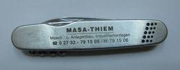 AC - MASA - THIEM MASCH. - U. ANLAGENBAU INDUSTRIEMONTAGEN VINTAGE POCKET KNIFE, BOTTLE OPENER & FORK - Tools