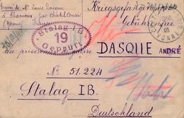 Carte Stalag I B CaD Chatelcensoir Yonne - WW II