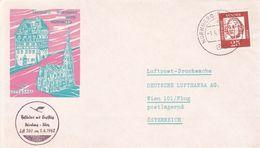 Germany 1962 Lufthansa Inaugural Flight LH 300 From Nurnberg To Wien, Souvenir Cover - [7] Federal Republic