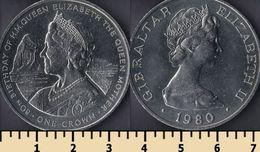 Gibraltar 1 Crown 1980 - Monnaies