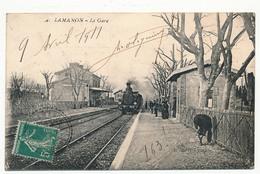 CPA - LAMANON (Bouches Du Rhône) - La Gare - Autres Communes