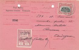 YY546 - Carte-Récépissé TP Petit Albert DENDERMONDE 1921 Vers Hector Dubois , Brasseur à AUDEGEM - Bières