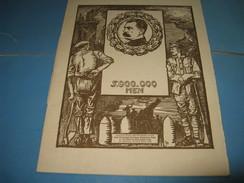 """BELLE PLAQUETTE HOMMAGE A LORD KITCHENER """"5.000.000 MEN"""" 1916 Illustré ANGLETERRE 14-18 CONAN DOYLE - 1914-18"""