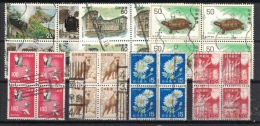 Japan, 7x Blocks Of 4 (o), Used - Collections, Lots & Séries