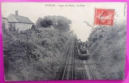 Cpa Aveluy Pont Ligne Nord Chemin De Fer Train Carte Postale 80 Somme Proche Bouzincourt Authuille Ovillers Boisselle - Ohne Zuordnung