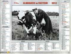 Calendrier Des Postes Almanach PTT 2012 Version Creuse Cinema Fernandel Bourvil - Calendars