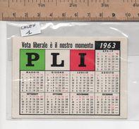 CALENDARIO 1   CALENDARIO VOTA LIBERALE PLI 1963 - Eventi