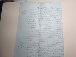 Echange De Terrain Par Me Jules Despret Notaire à Chimay 1841,famille Baudart,Huaux,Hardy.Baileux-Bourlers. - Manuscritos