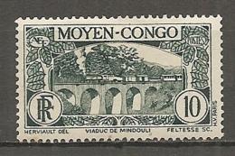 CONGO -  Yv. N° 117   * 10c   Viaduc  Cote 0,7 Euros  BE é Scans - Congo Français (1891-1960)
