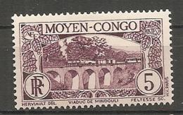 CONGO -  Yv. N° 116   *  5c   Viaduc  Cote  0,7 Euros  BE 2 Scans - Congo Français (1891-1960)