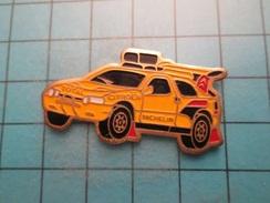Pin513b Pin's Pins /  CITROEN AX RALLYE PARIS DAKAR MICHELIN TOTAL  , Belle Qualité !!!    Marquage Au Dos : ----- - Rallye