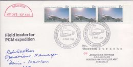 3200  FDC Mawson  1991 AAT, Field Leader For PCM Expedition, - FDC