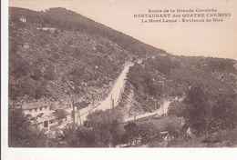 Cp , 06 , NICE , Environs , Route De La Grande Corniche , RESTAURANT Des QUATRE CHEMINS , Le Mont Leuze - Villefranche-sur-Mer